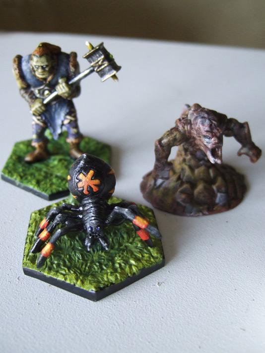 Peinture Battlelore, bombe, lavis, créatures